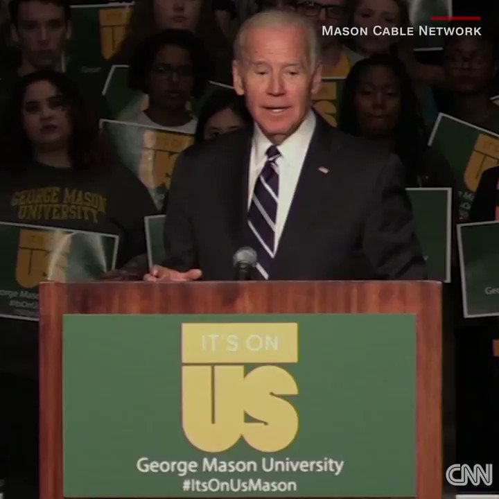 """""""Guys, a woman who's dead drunk cannot consent. You are raping her."""" Joe Biden doesn't mince words in a powerful speech to college students"""