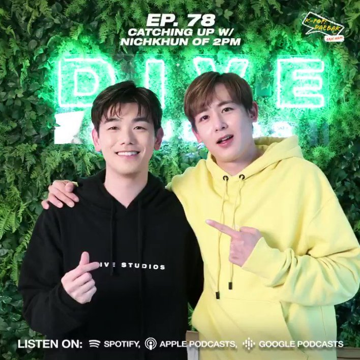 "K-Pop Daebak w/ Eric Nam on Twitter: ""Can you feel his heartbeat? 👀 Let's welcome #NICHKHUN from #2PM onto the show! 😍👏 🎧 @Khunnie0624 from @follow_2PM catches up with @ericnamofficial on Ep. #"