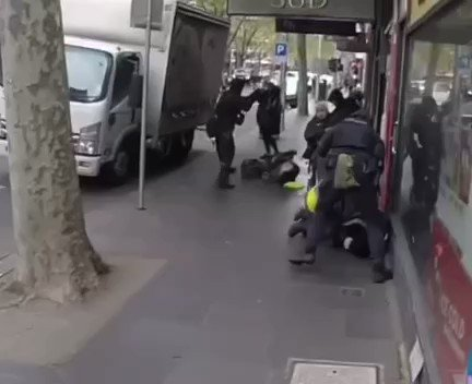 Australian police are thugs. They're enforcing tyranny with violence. Australia has fallen. https://t.co/Saf3Ly8bps