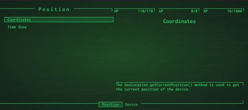 Fallout_pipboy: CRT/green-screen effects: Fallout-style HUD display.   #reactjs