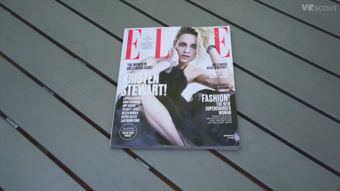 Watch @ELLEmagazine's November cover come to life in augmented reality