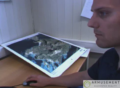 3D Augmented Reality GIS Map  #3D #geomatics #GIS