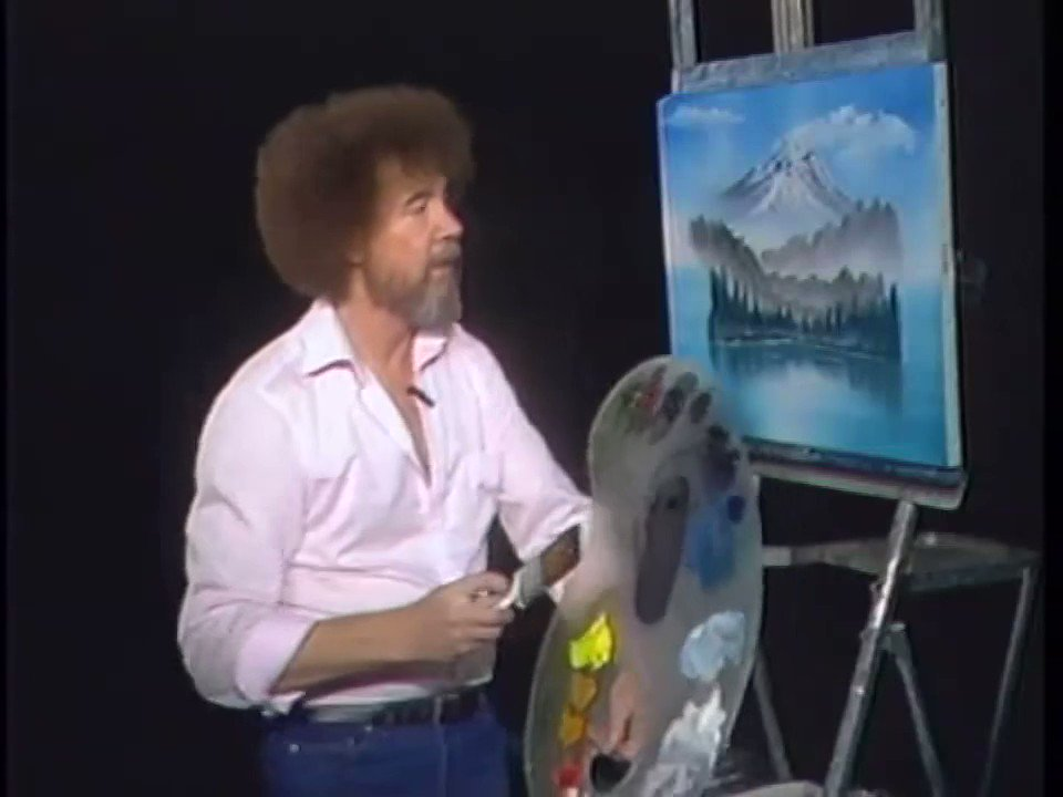 Whoever says magic isn't real, haven't seen Bob Ross paint a tree.