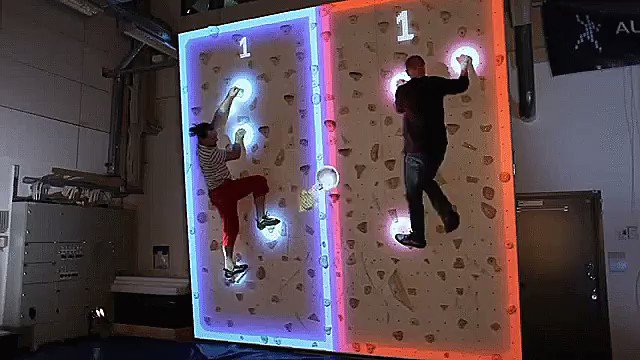 Augmented Reality Climbing Wall! #ar #augmentedreality Details at