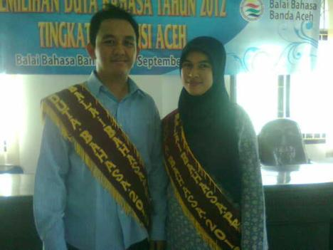 Liza dan Sidiq | Duta Bahasa Prov. Aceh 2012