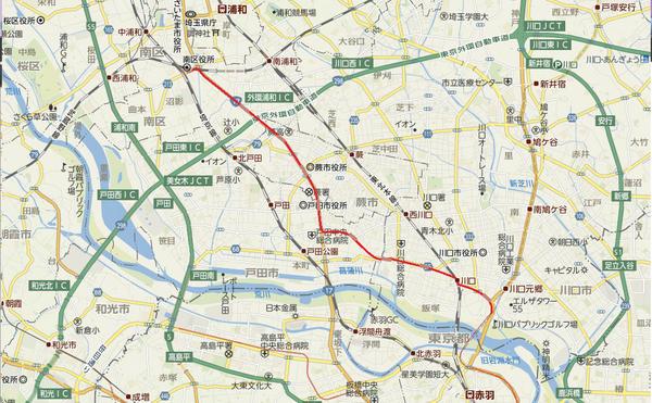 test ツイッターメディア - 埼玉高速鉄道から分岐して、川口、戸田、蕨を経由し、武蔵浦和に至る路線。周辺は市街地ですでに発展してるため、全線地下となる。これにより、埼京線や京浜東北線の混雑が大幅に緩和される。 https://t.co/OCRFrEFQ
