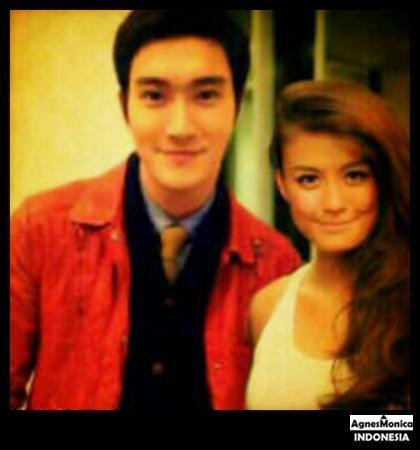 Agnes Monica dan Siwon Super Junior