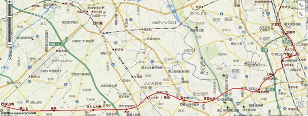 test ツイッターメディア - 大宮からふじみ野を通って狭山市に至る。大宮では東武野田線と直通運転を行い、埼玉大まで地下を走る。これにより、今まで不便だった県内の横移動、さいたま市街地での移動が便利になる。また、ふじみ野で東武東上線と繋げ、川越まで直通運転する。 https://t.co/1hoz7o6R