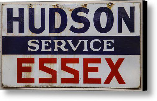Hudson and Essex service sign