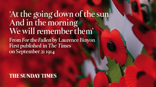 PHOTO MOMENT: Remembrance Sunday - Sunday Times pays tribute to the fallen (1/6)