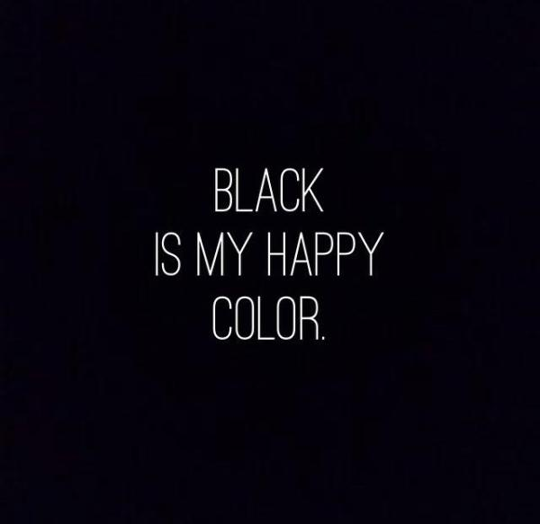 A is for awesome on Twitter quotBlack is my happy color