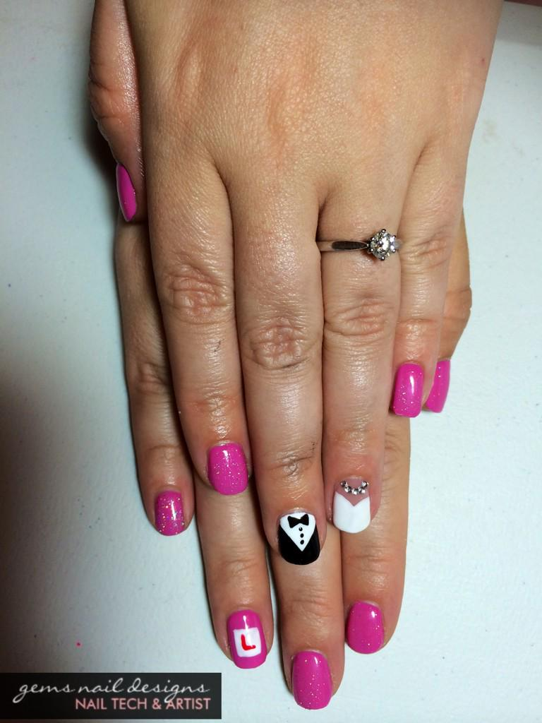 Gems Nail Designs On Twitter Bride Groom Hen Party Nails Henparty Nailart T Co Iba496q9ab