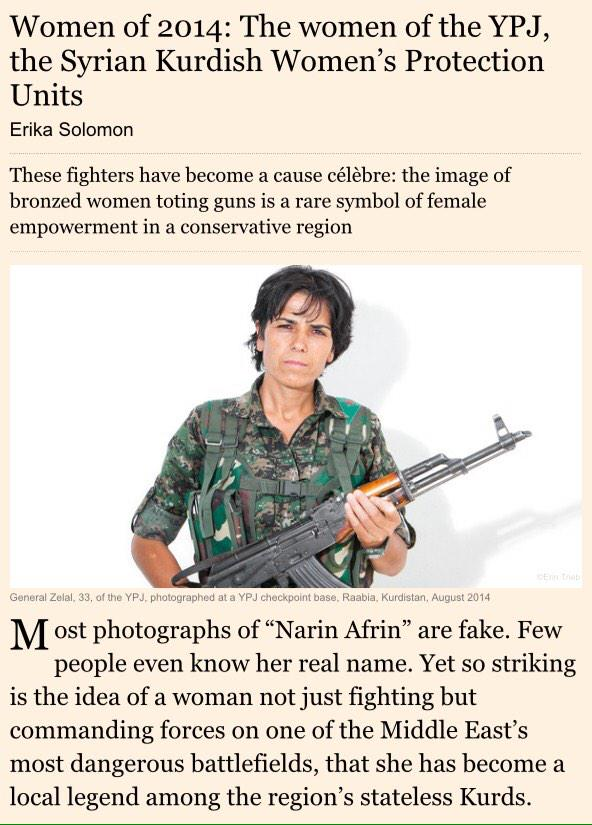 Women of 2014 choice of @ft :women of #ypj, syrian kurdish ...