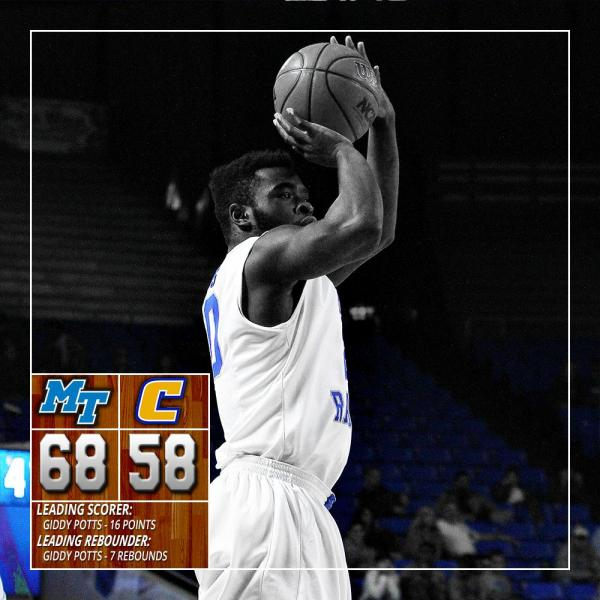 "MT Basketball on Twitter: ""Blue Raiders defeat Chattanooga ..."