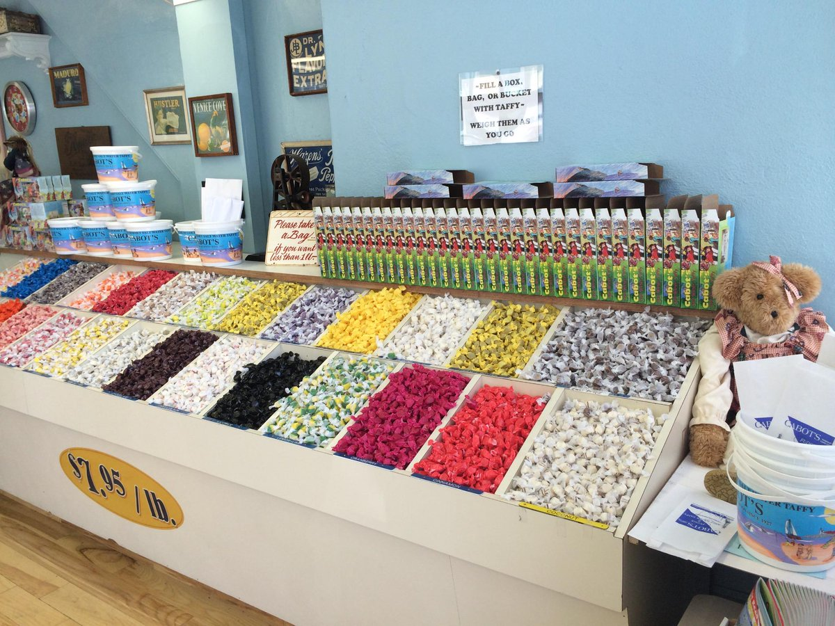 Salt water taffy comes in 50 flavors locally made at Cabot's Candy