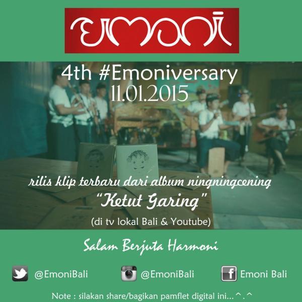 4th #Emoniversary. pic via twitter @emonibali