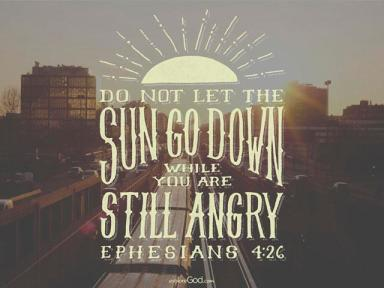 Image result for do not let the sun go down on your anger