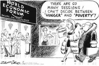 Afbeeldingsresultaat voor davos wereld economisch forum cartoon