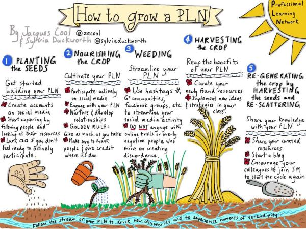 Image by Sylvia Duckworth on How to Grow a Personal Learning Network