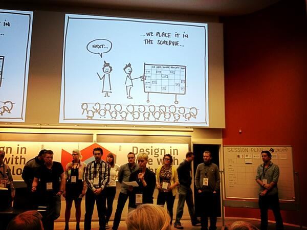 UXcampCPH participants pitching their sessions; photo by @JohannaBlomgren