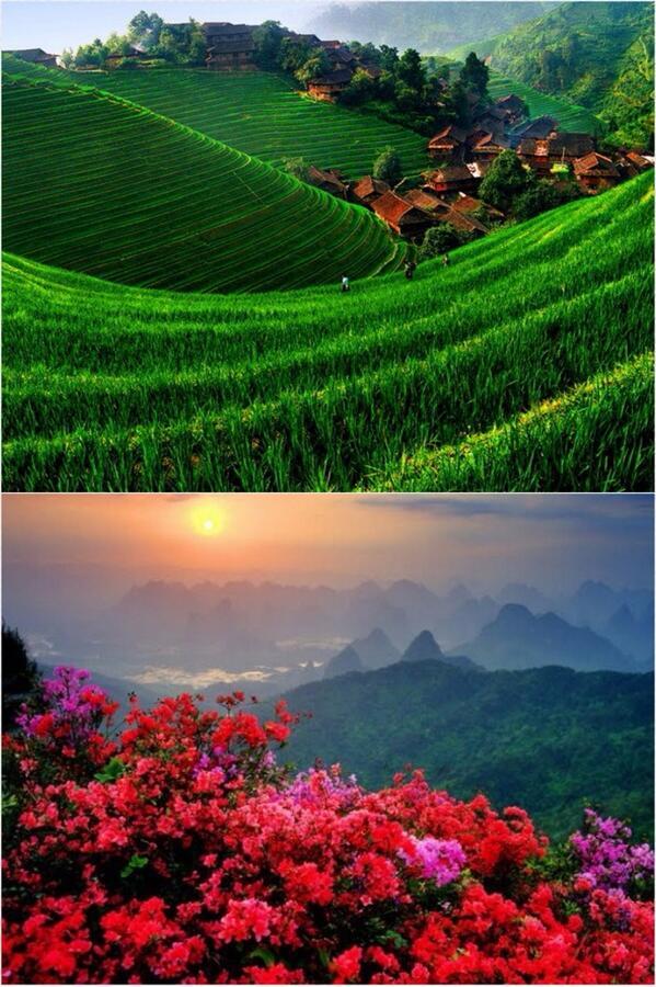 حول العالم On Twitter صورة من قرية منالي الصينية التي