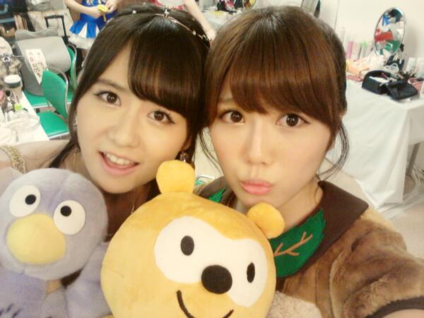 [twit] 佐藤すみれ 宮崎美穗 130918 - 看板 AKB48 - 批踢踢實業坊