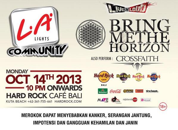 Bring Me The Horizon Live Concert in Bali
