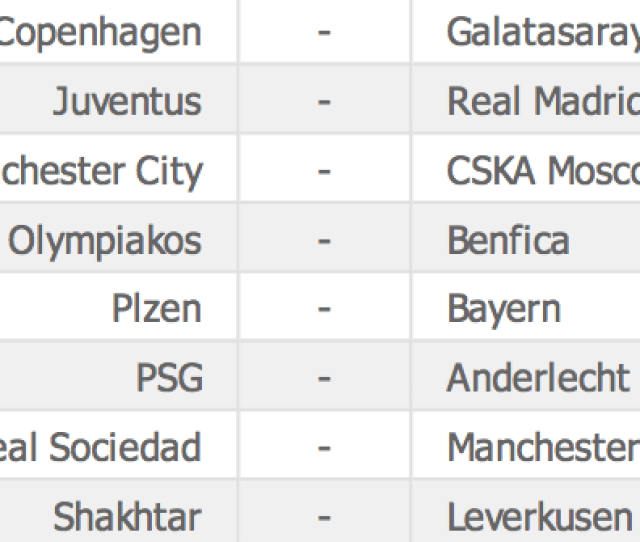 Bt Sport Score On Twitter Fixtures Tonights Champions League Fixtures Which Teams Will Win Or Draw Use Btspaccumulator Predictions