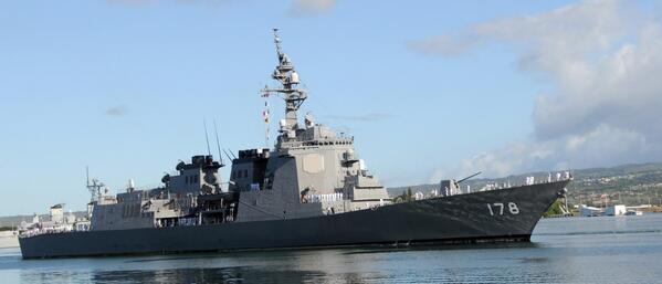 """test ツイッターメディア - ◇日本は """"専守防衛"""" の姿勢にのっとって戦力を必要最小限としている。そのため海上戦力の要となるイージス艦も、弾道ミサイル迎撃網が日本列島をカバー出来るギリギリの数となっている。 ※画像は """"あたご型2番艦 「あしがら」"""" https://t.co/kYCHa9dFGd"""