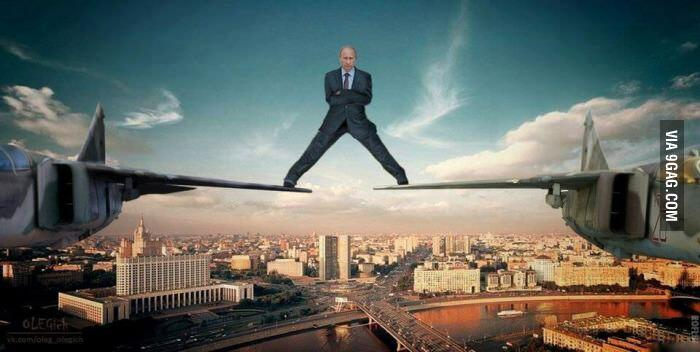 PHOTO MOMENT: Is Putin giving Van Damme a stunt-run for his (Volvo) money?