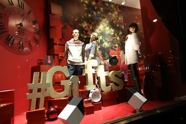 Clerys christmas window display
