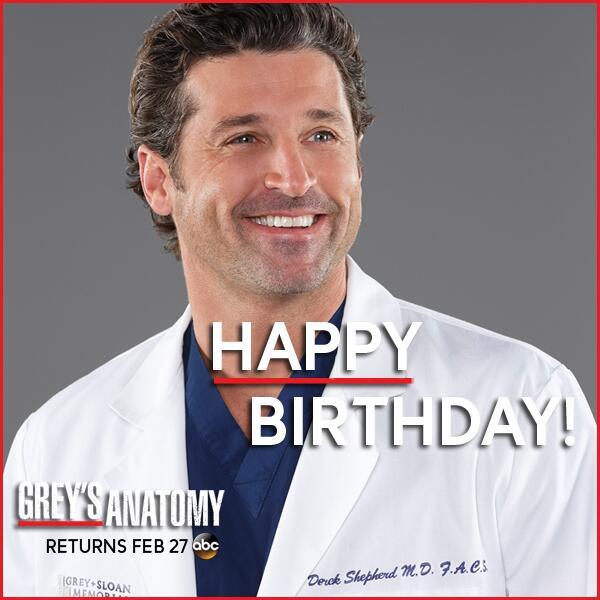 "Greys Anatomy on Twitter: ""RT to wish @PatrickDempsey a ..."