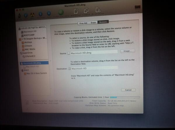Restoring the Backup also failed