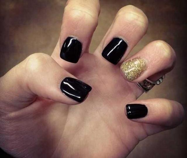 Roxys Nails On Twitter Black Shellac Gold Shellac Glitter T Co Pnkbdelj
