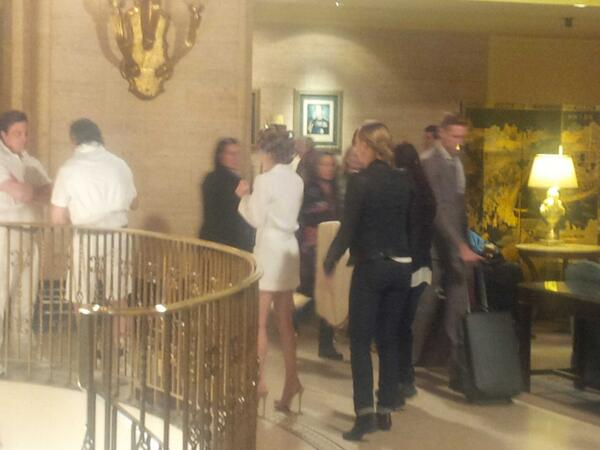Rachel Skarsten and others shooting at the Fairmont Royal York Hotel