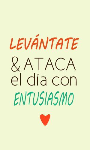 Levántate y ataca el día con entusiasmo... ¡Buenos días! http://t.co/n9IJb2F97U