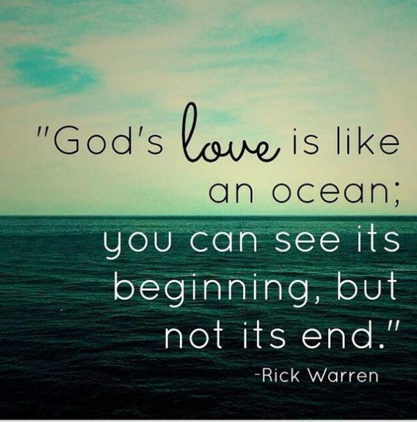 "Rick Warren on Twitter: ""God's love is like an ocean. You ..."