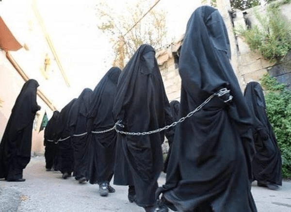 Image result for muslim women in chains