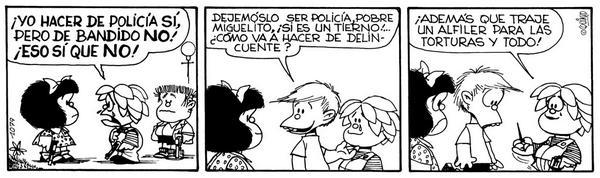 Resultado de imagem para mafalda policia