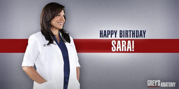"""Greys Anatomy on Twitter: """"Happy Birthday @SaraRamirez! # ..."""