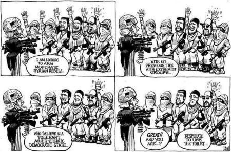 Afbeeldingsresultaat voor gematigde rebellen cartoon