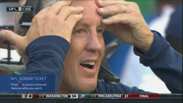 Image result for sad pete carroll
