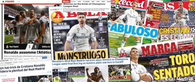 بالصور : الصحافة العالمية و الاسبانية تتحدث عن تألق رونالدو 2