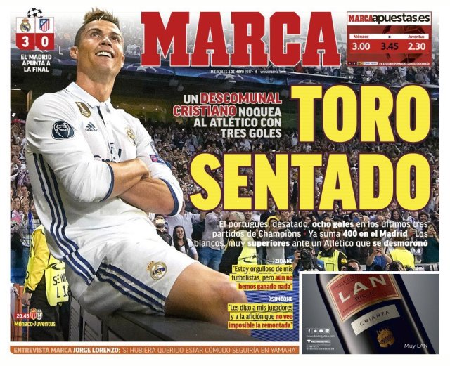 بالصور : الصحافة العالمية و الاسبانية تتحدث عن تألق رونالدو 4