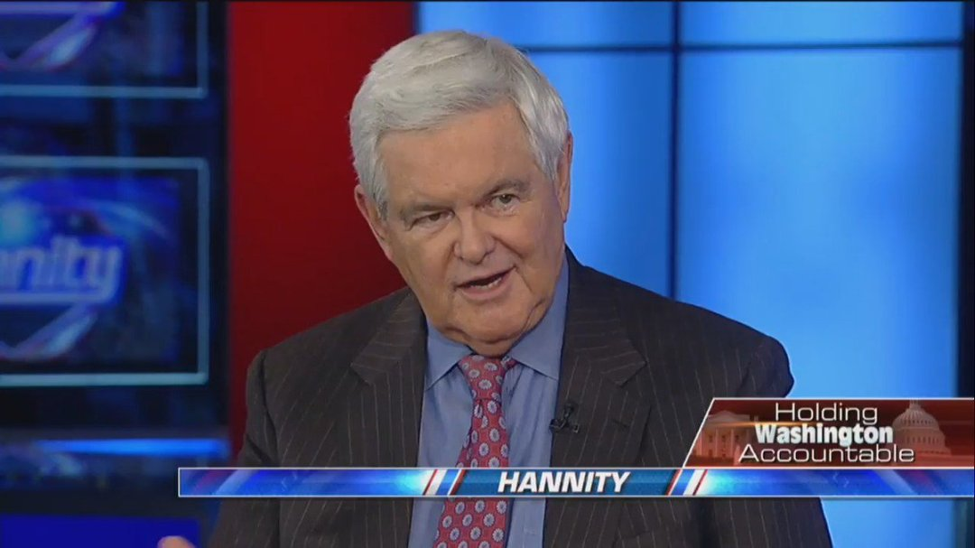 """.@NewtGingrich: """"If they do it right, they are going to get a big vote out of the Democrats on #tax cuts."""" #Hannity"""