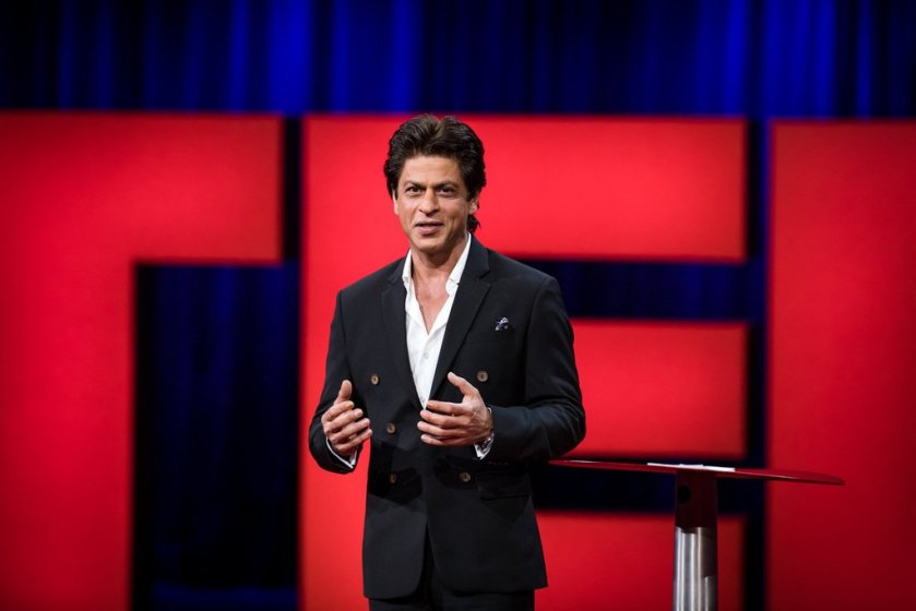 #ShahRukhKhan becomes the first Indian to give a speech at #TEDTalks!  #SRKLiveAtTEDTalks