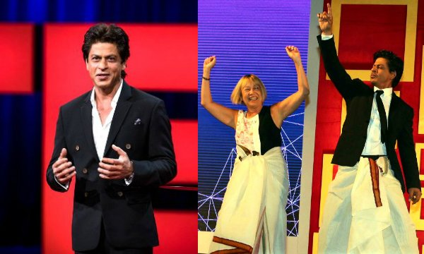 #ShahRukhKhan charms the audience at #TEDTalks 2017 with his 'lungi dance', watch video!