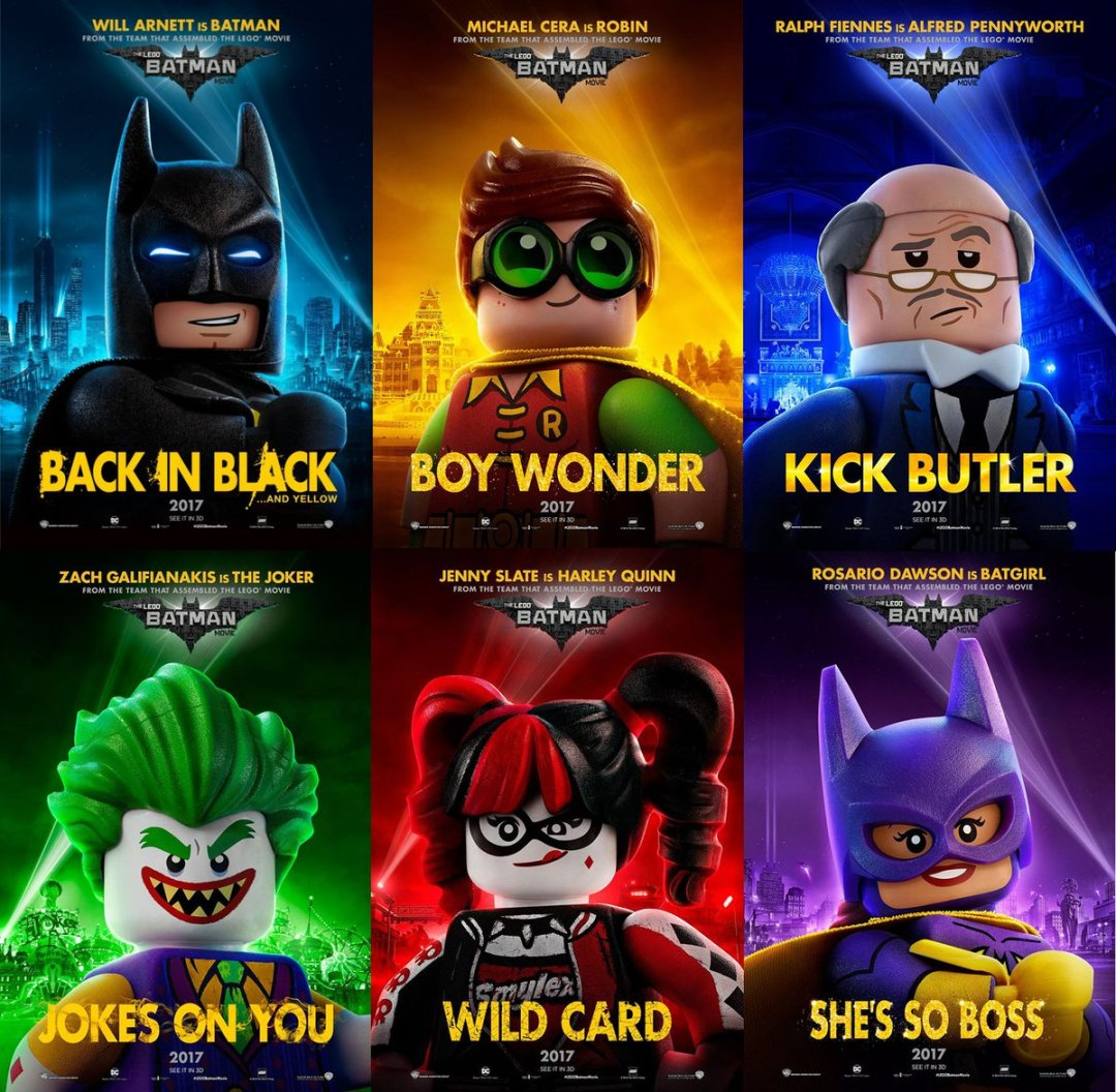 The Lego Batman Movie Character Posters Assembled