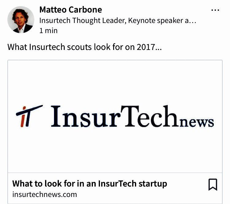 #insurtech scouting - what are you looking for?    #insurance #fintech #iot #ai #startup
