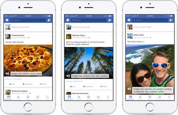 How artificial intelligence can translate Facebook photos for the blind